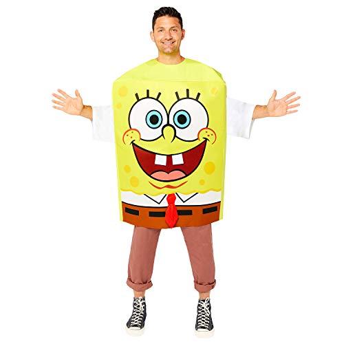 amscan 9909163 Spongebob Design Mens Costume-Medium Bob l'éponge pour homme Taille, jaune, moyen