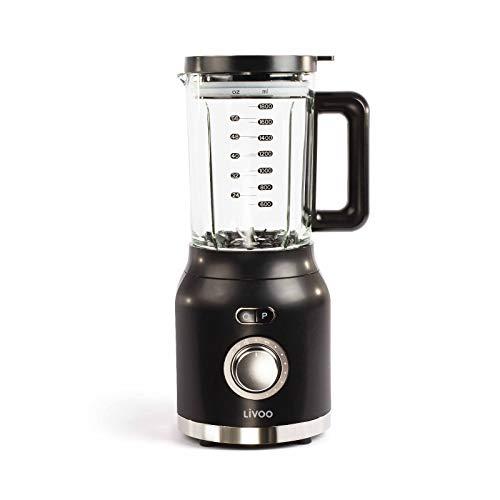 Staande mixer glazen pot 1,8 liter smoothie maker ijs crusher (mixer, impulsfunctie, versnipperaar, sterk 1200 watt, milkshake)