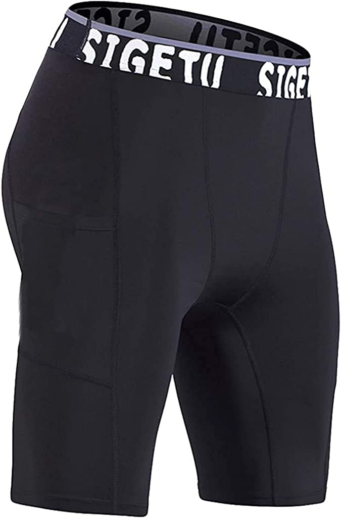 Andrea Spence Mens Flex Stretch Shorts,Mens New Sports Fitness Quick-Drying Training Tight Pocket Athletic Shorts Pants