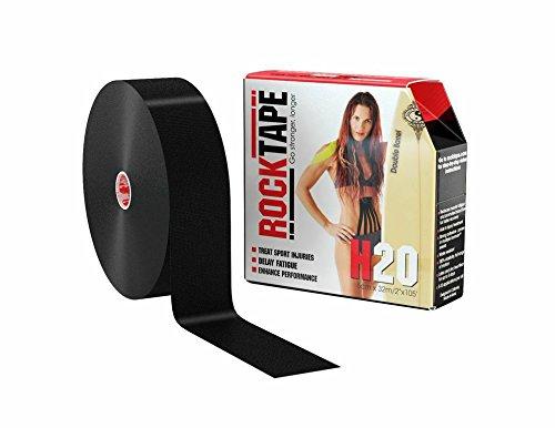 """RockTape H2O (Extra Sticky) Uncut BULK Kinesiology Tape - 2"""" X 105' Roll - H2O Black"""