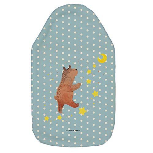 Mr. & Mrs. Panda Wärmekissen, Kinderwärmflasche, Wärmflasche Bär Träume - Farbe Blau Pastell