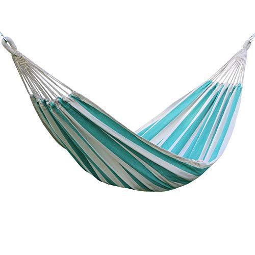 Outdoor Hängematte für Camping, Wandern, Garten, strapazierfähig, atmungsaktiv, Tragkraft 150 kg, 200 x 120 cm, Blau und Grün, grün
