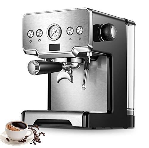 Mini cafetera de Goteo con Molinillo Grano, 1450W y Filtro Lavable Compatible con café molido, Acero Inoxidable