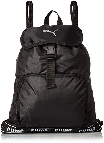PUMA Unisex-Adult's Commute Carry Sack, black/White, One Size