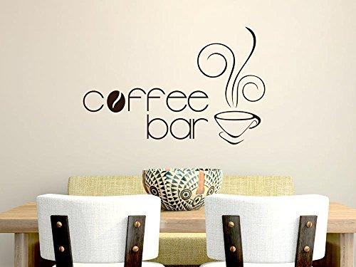 GRAZDesign Muurtattoo Keuken Coffee Bar, Keukendecoratie Decoratiefolie Koffie 77x50cm 582 Bishop Purple