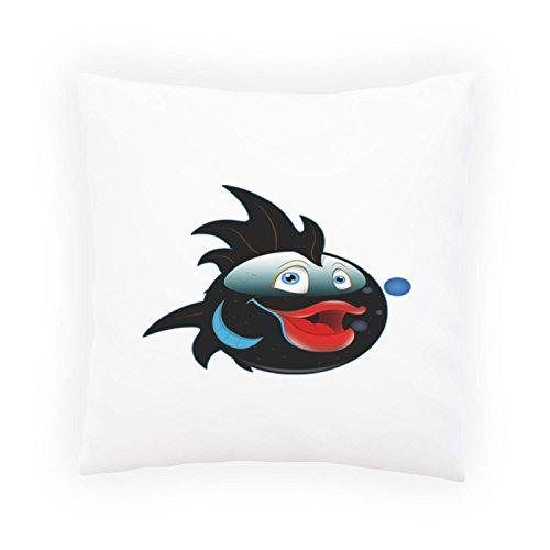 INNOGLEN Smile-Fisch-Cartoon-glückliche Gesichts-Neuheit-lustige Vintag Dekoratives Kissen, Kissenbezug mit Einlage/Füllung oder ohne, 45x45cm a260p