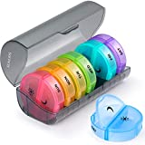 Weekly Pill Organizer 7 Day 2 Times a Day, Sukuos Large Daily...