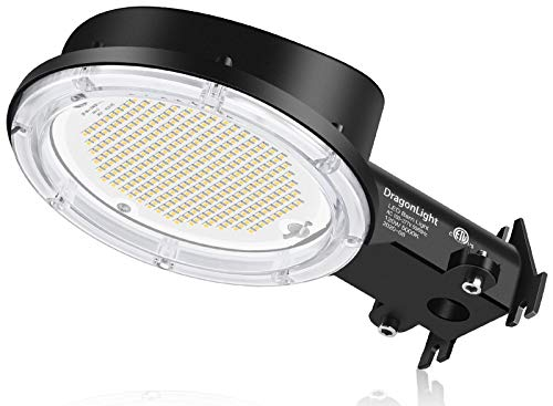 DragonLight 100W LED Barn Light - Dusk to Dawn Yard Light with Photocell - 5000K Daylight 13,800lm(600Watt MH/HPS Replacement), IP65 Waterproof for Outdoor Area Lighting, 5-Year Warranty