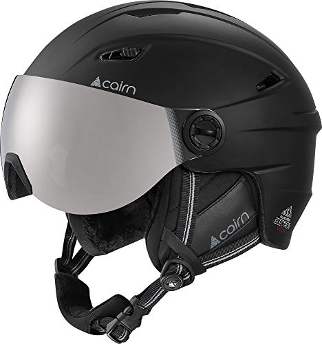 Cairn Electron Visor Ski & Snowboard Helmet Black 57-58cm