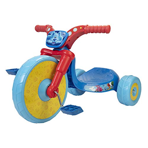 """Blues Clues 10"""" Fly Wheels Junior Cruiser Ride-On Pedal-Powered Toddler Bike Trike, Ages 2-4, for Kids 33""""-35"""" Tall and up to 35 Lbs"""