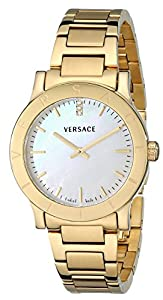 Versace Women's VQA050000 'Acron' Diamond-Accented Gold-Plated Watch