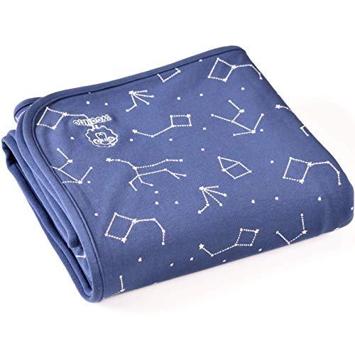 Woolino Toddler Blanket, Merino Wool, 4 Season Dream Blanket, 52.5†x 40†(Nightsky)