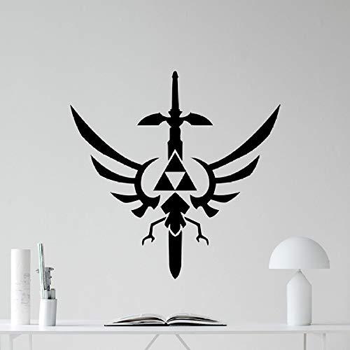woyaofal Legend of Zelda Wandtattoo Triforce Symbol Vinyl Aufkleber Wohnkultur Wohnzimmer Klassische Abnehmbare Schlafzimmer Aufkleber Poster 73X72 cm