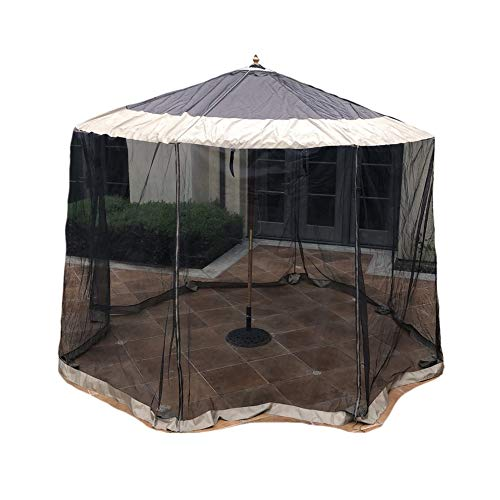 Formosa Covers Patio Umbrella Mosquito Screen Netting fit 9ft to 11ft Market or Hanging Cantilever Umbrellas