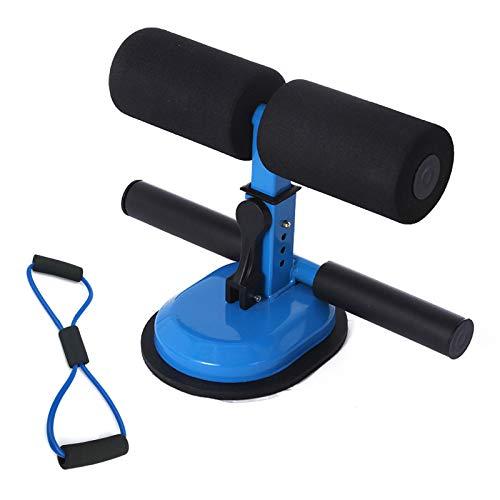 Coriver Barra de abdominales portátil, ventosas grandes mejoradas, dispositivo auxiliar de barra de asiento con bucle expansor de pecho en forma de 8 para flexiones, equipo de fitness doméstico