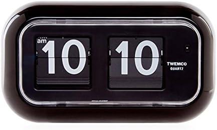 Homeloo Twemco German Quartz Over item handling Retro Modern Flip Clock San Francisco Mall Blac 35 QT
