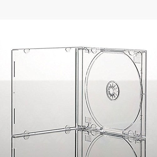 Vision Media 50 x Single CD Jewel Case transparent Tablett – 10,4 mm Rücken