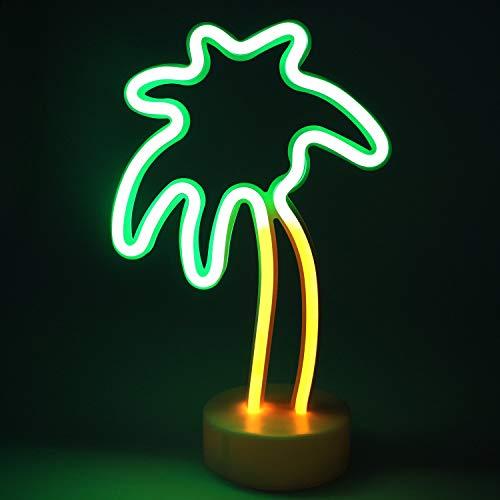 XIYUNTE Neonlicht Zeichen - Kokosnussbaum Leuchtschilder Zimmer Dekor Lampe Licht Kokosnussbaum Zeichen geformt Dekor Licht Schlummerleuchten für Weihnachten, Geburtstagsfeier