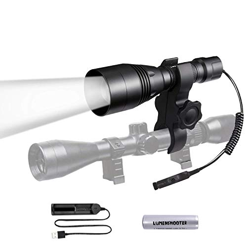 850nm Infrared Hunting Light Flashlight, Beam Adjustable IR Illuminator, LUMENSHOOTER A8S Long Range Scope Mounted Torch for Night Vision Optics(Not a regular light,Must Use With Night Vision Devices)