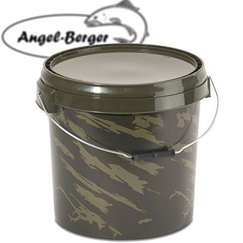 Angel-Berger Bucket Angeleimer Boilie Eimer Futtereimer (20l Rund)