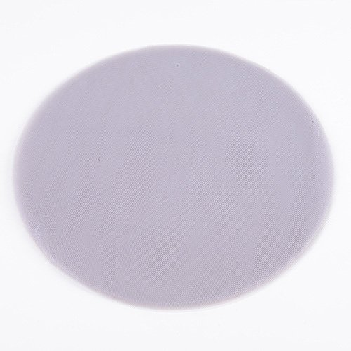 Feuzy Premium Tulle Circle - (W: 9 inch | L: 25 Pieces) for Wedding Favor Wrapping Decoration (Silver)