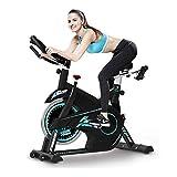 Exercice vélo, Vélo Vélo d'intérieur avec écran LCD, Coussin de siège confortable, lourd...