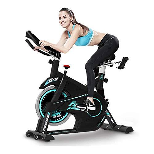 WJFXJQ Bicicleta de Ejercicios, Bicicleta de Ciclismo Interior Fijo con Monitor LCD Ritmo cardíaco, Asiento Ajustable y Volante Pesado, Entrenador para el hogar Ejercicio Bicicleta