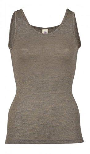 Damen Trägerhemd, Wolle Seide, Gr. 34 - 48, 3 Farben (42/44, Walnuss)