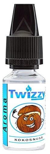 10ml Twizzy® Kokosnuss Aroma | Aroma für Shakes, Backen, Cocktails, Eis | Aroma für Dampf Liquid und E-Shishas | Flav Drops | Ohne Nikotin 0,0mg