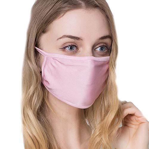 SCHOLIEBEN ProteccióN A Prueba De Polvo De Seda Filtro Reutilizable De Seda Pm2.5 FiltracióN De Aire Pink