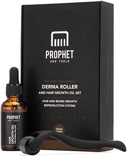 Prophet Tools Mens Beard Growth Kit Micro Derma Roller for Hair Growth with Beard Growth Oil product image