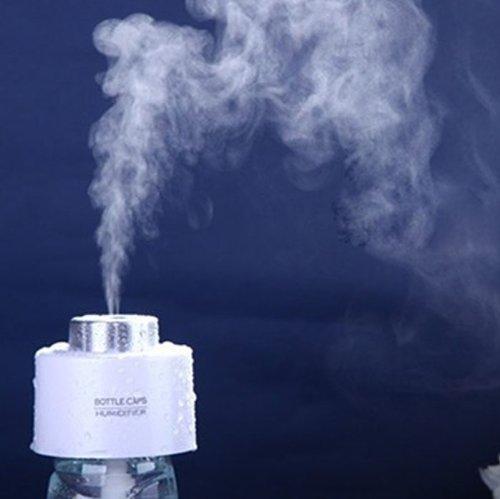 Humidificateur,Mini Chargeurs USB Rond Ultrasonique Cool Blanc Silencieux Purificateur d'air Aromathérapie Huile Essentielle Diffuseur Maison, Bureau, Chambre, Spa léger