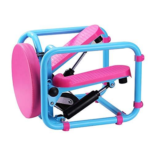 TopJiä Mini Stepper Up-down-Stepper,multifunktionale Zuhause Swing Stepper,kardio Fitnessgerät,Fitness Trainingsgerät Blau+pink