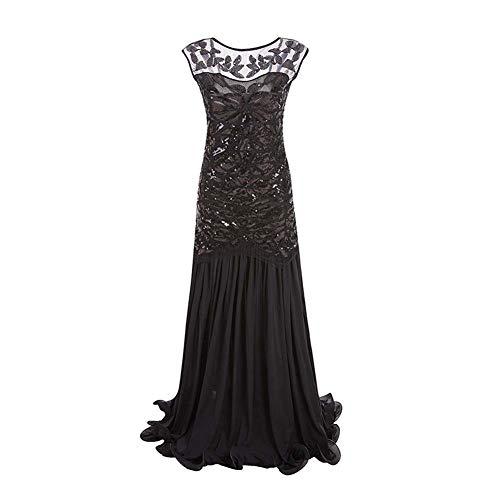 - Schwarzes Flapper Kleid Kostüm Uk