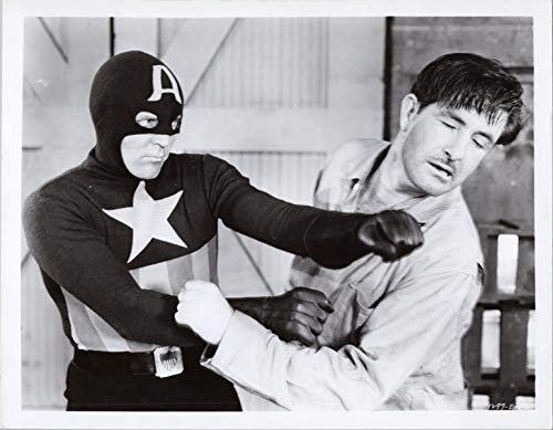 Dick Purcell as Captain America from 1940's movie serial 8x10 photo