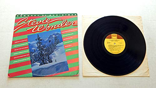 Stevie Wonder SOMEDAY AT CHRISTMAS - Tamla Records 1978 - USED Vinyl LP Record - 1978 Reissue Pressing T7-362R1- One Little Christmas Tree - Twinkle Twinkle Little Me - Silver Bells - Bedtime For Toys