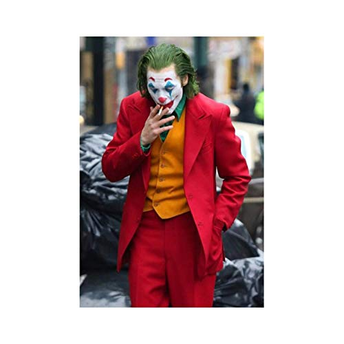 Super villano fumando Joker póster de película lienzo arte de pared Joaquin Phoenix carteles e impresiones imagen cómic decoración pintura Cuadros-24x36 pulgadas sin marco