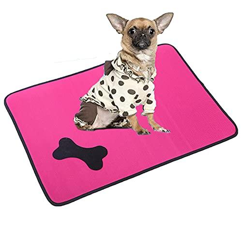 JYOKK Alfombra Refrescante Tejido Impermeable Y Transpirable Comodidad para Perros Y Gatos Relleno Autorefrigerante para Mascotas(Varios TamañOs Pink)
