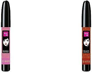 Elle 18 Go Matte Lip Crayons, 03 Mauve Shot, 2.2 g & Elle 18 Go Matte Lip Crayons, 08 Hyper Brown, 2.2 g