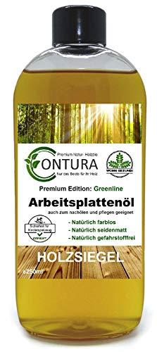 250ml Contura Arbeitsplattenöl Greenline Holzpflegeöl Holzpflege Holzöl Tisch Arbeitsplatten Möbelöl Holzschutz nachölen auffrischen pflegen Holzpflegeset Pflegemittel
