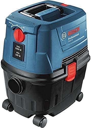 Bosch Professional Nass-/Trockensauger GAS 15 (1.100 Watt, inkl. 1x 3m Schlauch, Rohre (2 Stück), Bodendüsen-Set, Krümmer, im Karton)