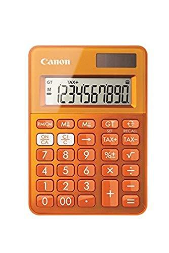 Canon ls-100K–Taschenrechner (Desktop, Batterie/Solar, Basic Taschenrechner, orange, Kunststoff, Tasten)