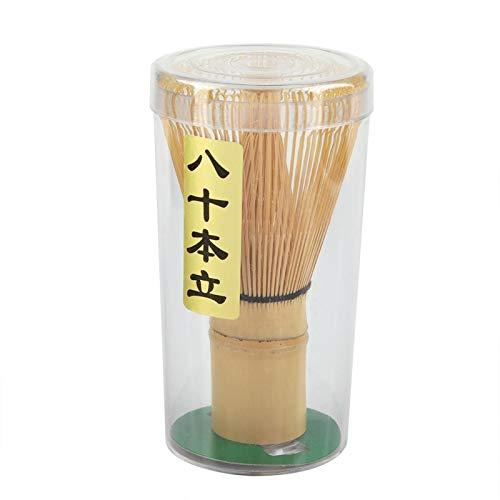 Natürlicher Bambus Matcha Grüner Tee Schneebesen Chasen Japanische Matcha Rührer Mixer Puderpinsel Werkzeug nach japanischer Art für die Teezeremonie Tee trinken(L)
