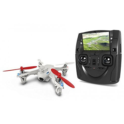 view of hubsan H107D and its controller