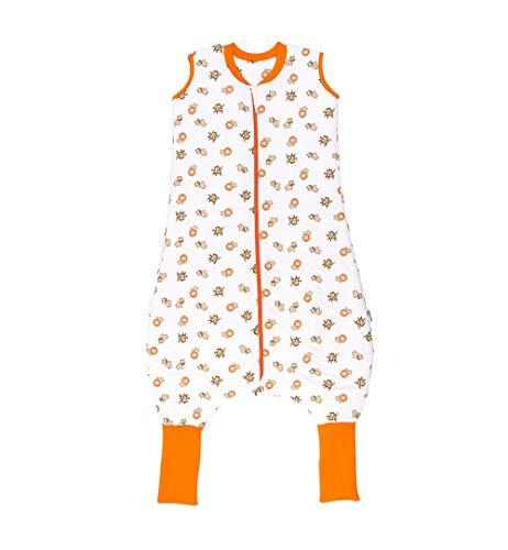 *Schlummersack Schlafsack mit Beinen und verlängerten Fußbündchen zum Umklappen für den Winter in 3.5 Tog – Wilde Tiere -110 cm*