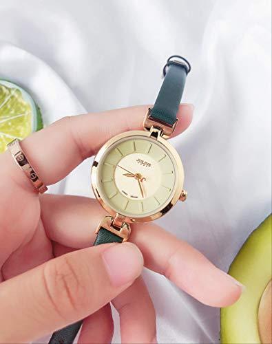Miwaimao Reloj De Moda Femenina Estudiante Femenina Temperamento Simple Dial Pequeño Damas Cinturón Fino Reloj De Cuarzo Ins Viento