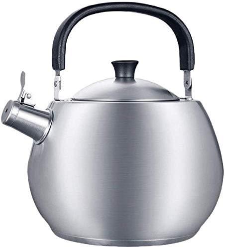 Cocina Placas de inducción Capacidad de Gas Silbido Acero Inoxidable Gas Cerámica Tetera Hogar Camping
