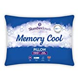 Slumberdown Memory Cool White Pillow Firm Support Designed for Back and Side Sleepers