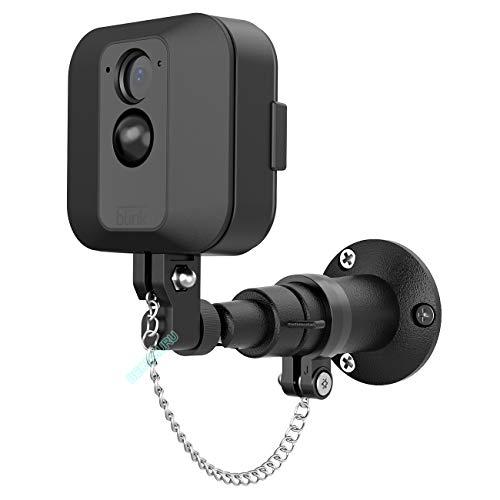 BECEMURU wandmontagebeugel diefstalveilige houder met kettingbescherming voor buitenmontage voor XT-camera (zwart)