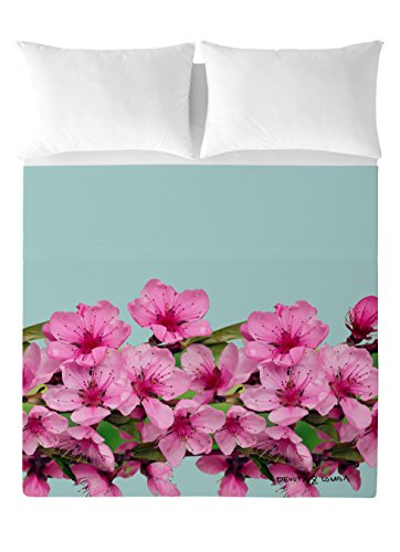 Devota & Lomba Flor Almendro Cenefa Juego de sábanas, Algodón, Multicolor, 150 x 200 cm